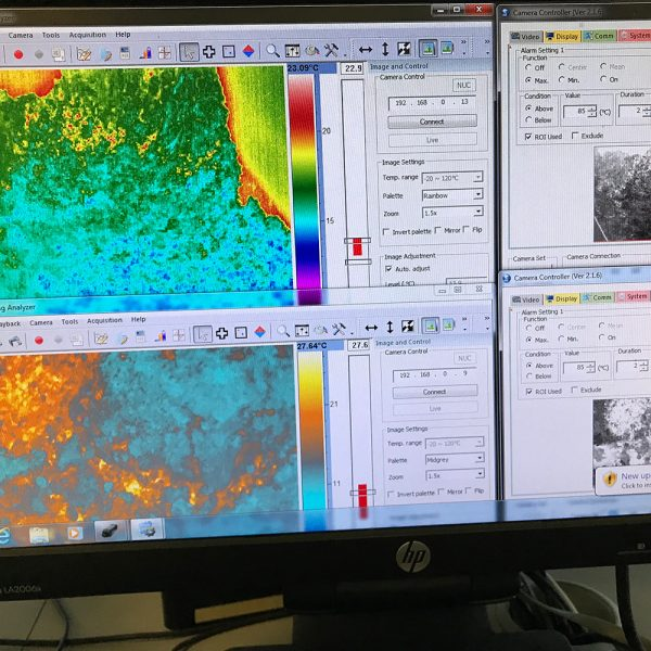thermal imaging data on computer from radiometric cameras