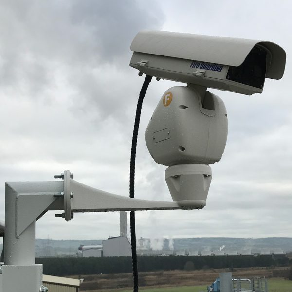 Fire guardian security camera outside